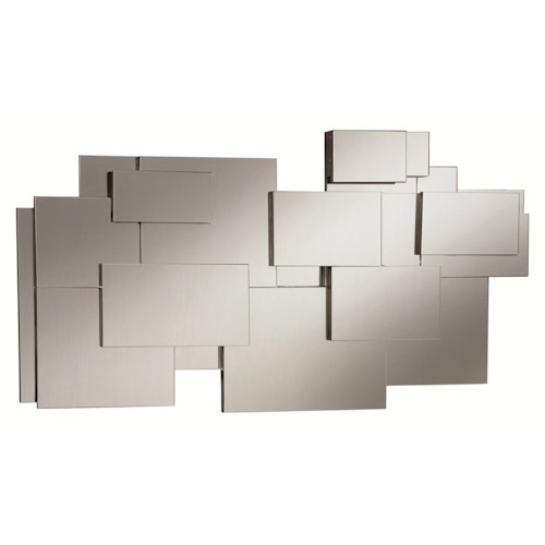 Coaster Accent Mirrors Contemporary Stacked Wall Mirror