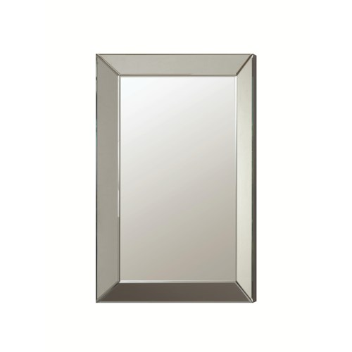 Coaster Accent Mirrors Contemporary Frameless Beveled Mirror