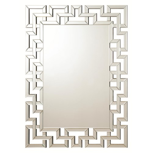 Coaster Accent Mirrors Frameless Greek Key Mirror