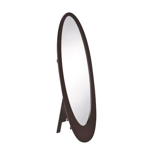 Coaster Accent Mirrors Oval Shaped Floor Mirror