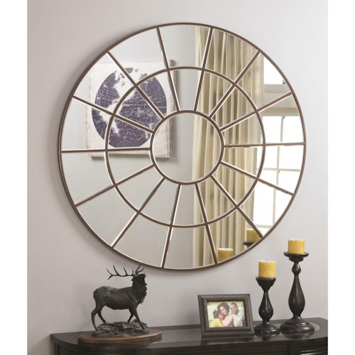 Coaster Accent Mirrors Circular Mirror with Palladian Inspired Design