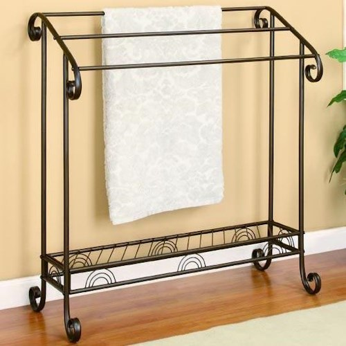 Coaster Accent Racks Dark Bronze Metal Towel Rack