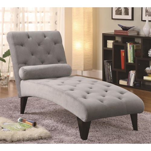 Coaster Accent Seating Velour Tufted Chaise