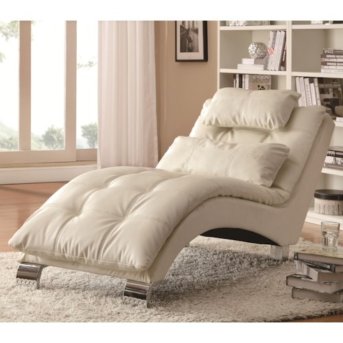 Coaster Accent Seating Casual and Contemporary Living Room Chaise with Sophisticated Modern Look