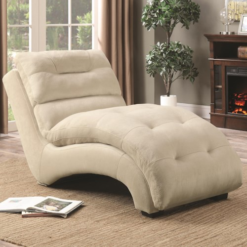Coaster Accent Seating Accent Chaise with Arched Base