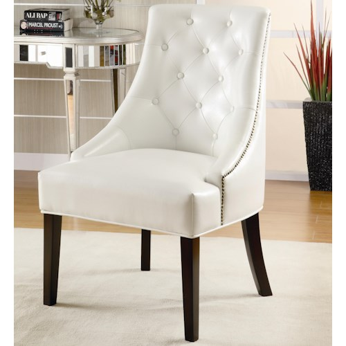 Coaster Accent Seating Upholstered Accent Chair with Tufted Button Accents