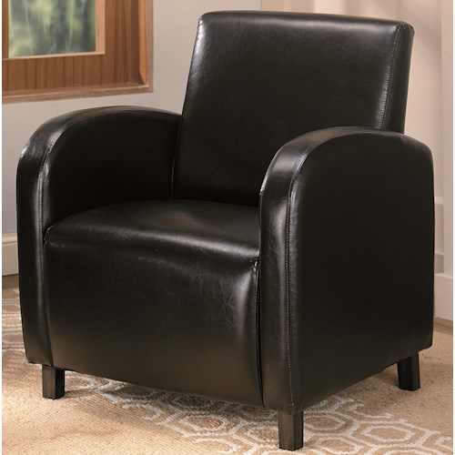Coaster Accent Seating Vinyl Upholstered Arm Chair