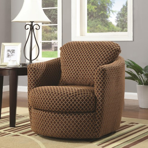 Coaster Accent Seating Swivel Upholstered Chair