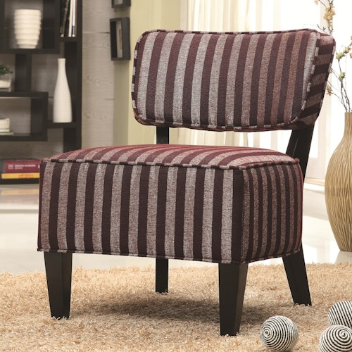 Coaster Accent Seating Accent Chair w/ Wood Legs
