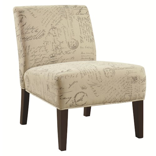 Coaster Accent Seating Armless Accent Chair with Contemporary Furniture Style