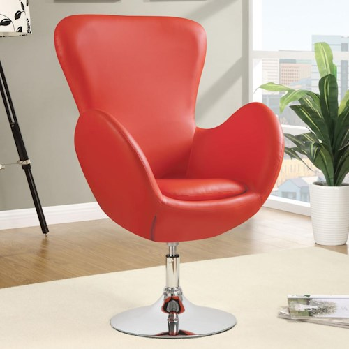 Coaster Accent Seating Swivel Leisure Chair (Red)
