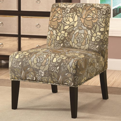Coaster Accent Seating Stained Glass Pattern Accent Chair