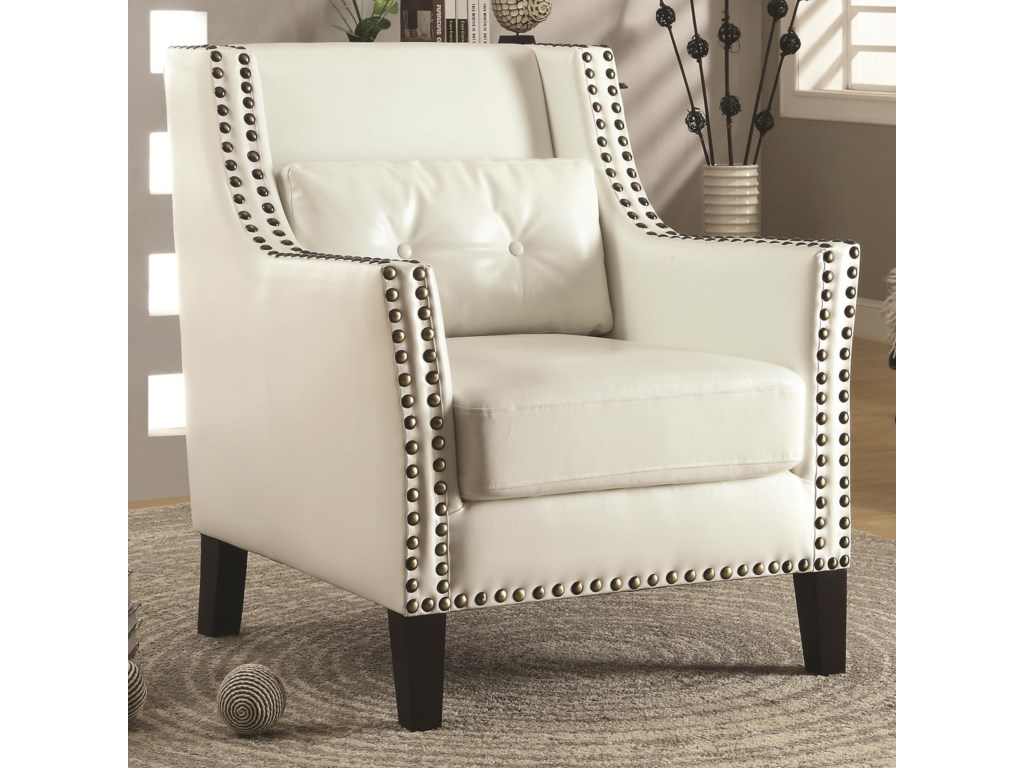 Shown with White Faux Leather