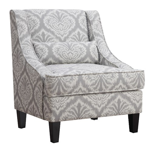 Coaster Accent Seating Jacquard Patterned Accent Chair