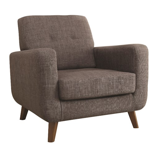 Coaster Accent Seating Mid Century Modern Accent Chair