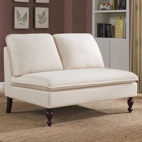 Coaster Accent Seating Transitional Settee