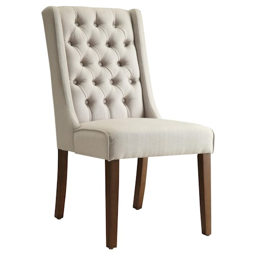 Coaster Accent Seating Accent Chair/Side Chair with Tufted Back