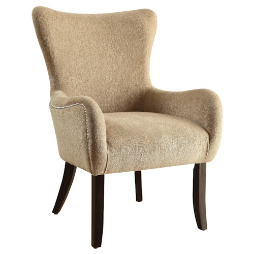 Coaster Accent Seating Casual Accent Chair with Contemporary Curves