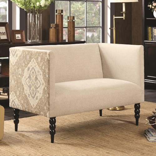 Coaster Accent Seating Shelter Arm Settee