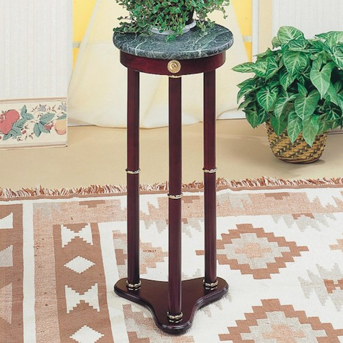 Coaster Accent Stands Green Marble Top Round Plant Stand