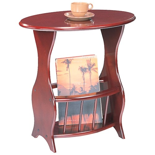 Coaster Accent Tables Magazine Storage End Table