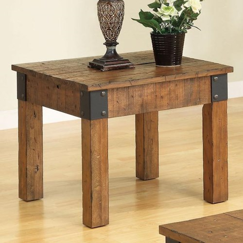 Coaster Accent Tables Distressed Country Wagon End Table