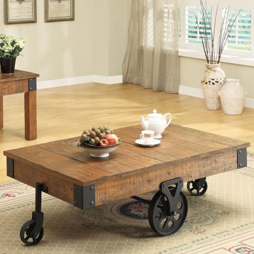 Coaster Accent Tables Distressed Country Wagon Coffee Table