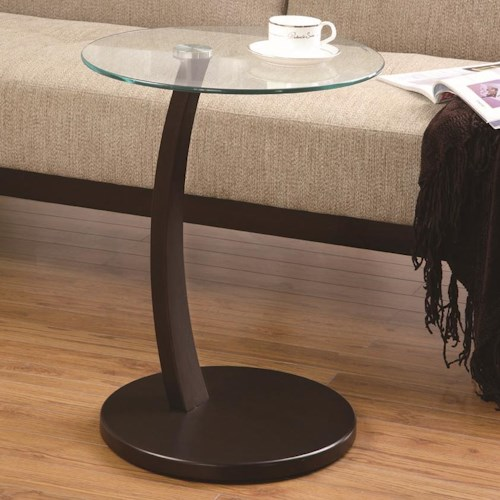 Coaster Accent Tables Round Accent Table with Round Glass Table Top