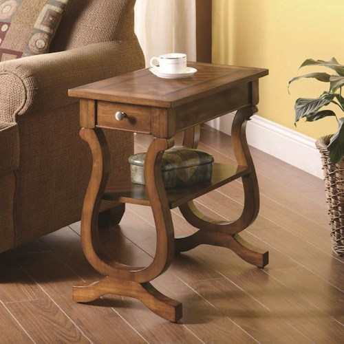 Coaster Accent Tables Warm Brown Rectangular Chairside Table