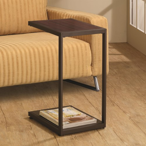 Coaster Accent Tables Dark Brown Rectangular Snack Table