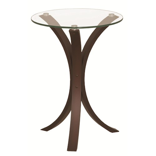 Coaster Accent Tables Snack Table w/ Glass Table