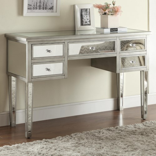 Coaster Accent Tables Mirrored Console Table with 5 Drawers