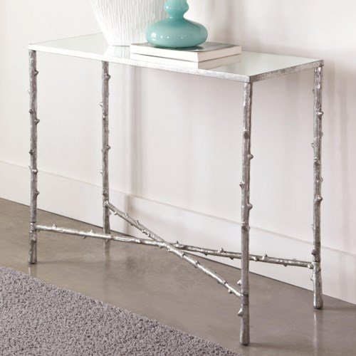 Coaster Accent Tables Glass Top Console Table