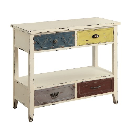Coaster Accent Tables Colorful Aged Console Table