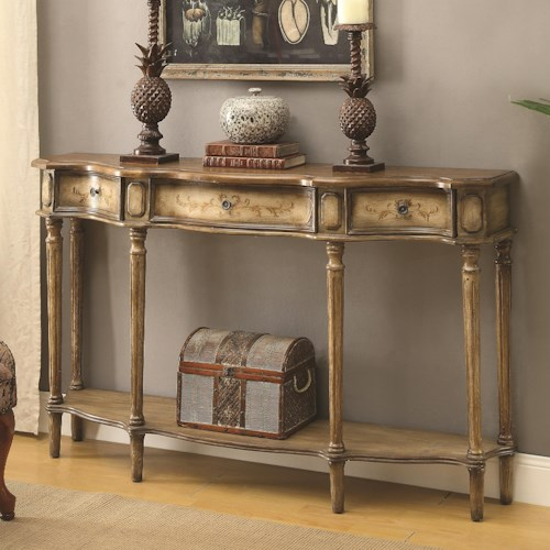 Coaster Accent Tables Traditional Breakfront Console Table