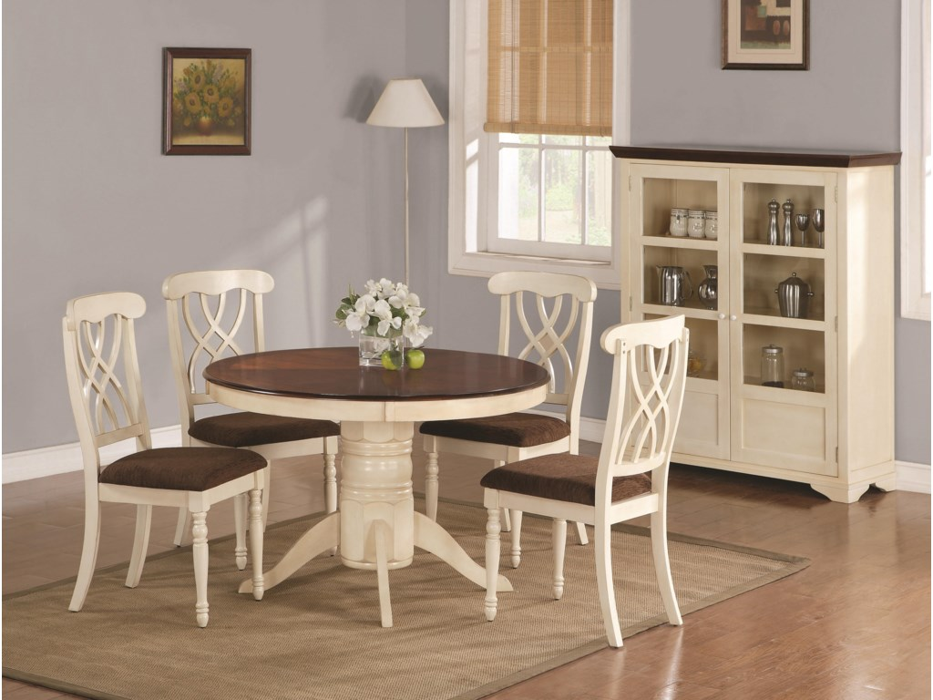 Shown with Round Dining Table & Curio