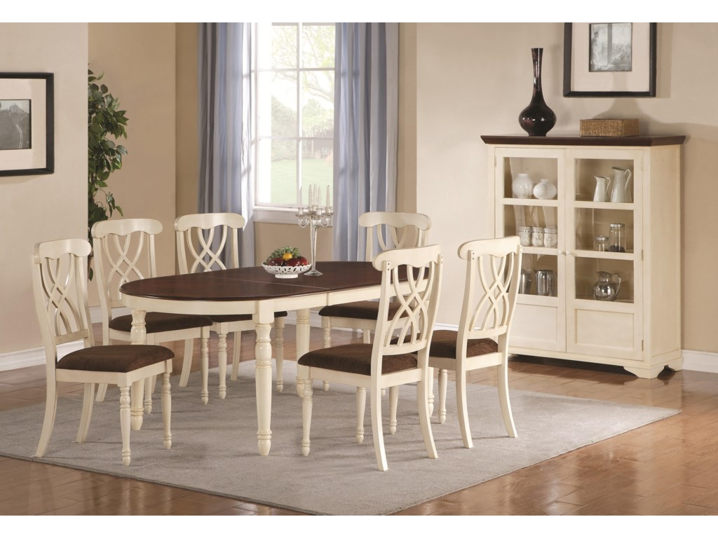 Shown with Oval Dining Table & Curio