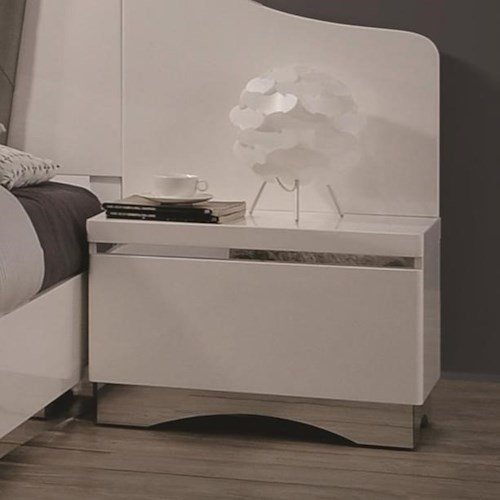 Coaster Alessandro Night Stand with One Dovetail Drawer