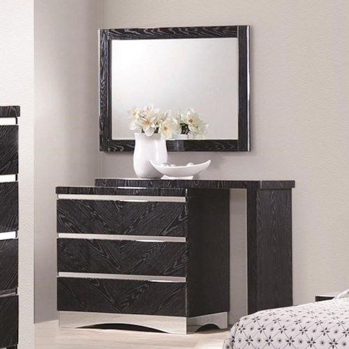 Coaster Alessandro 3 Drawer Dresser with Full Extension Glides