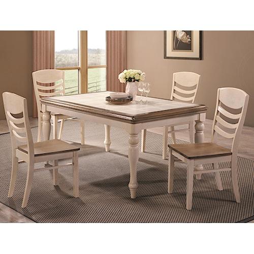 Coaster Allston Rectangular 5 Pc. Table & Chair Set