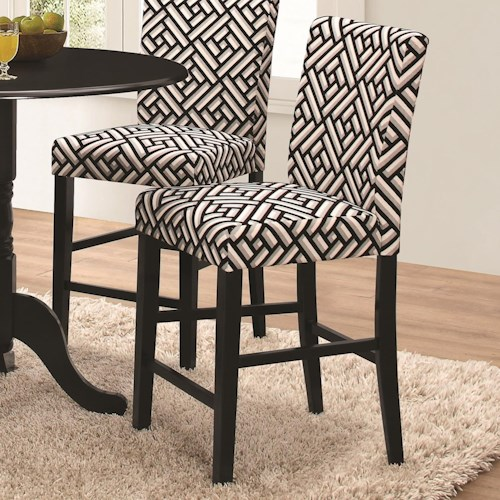 Coaster Allston Counter Height Chair with Geometric Pattern