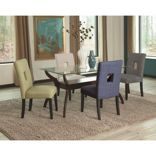 Coaster Andenne 5 Piece Glass Top Dining Table Set