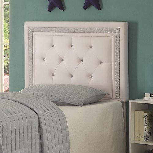Coaster Andenne Bedroom Glamorous Twin Headboard