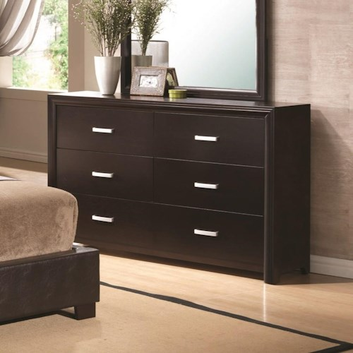 Coaster Andreas 6 Drawer Dresser in Cappuccino Finish