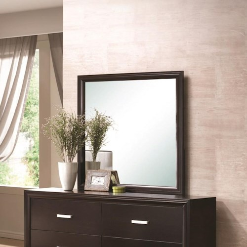 Coaster Andreas Mirror with Cappuccino Finished Frame