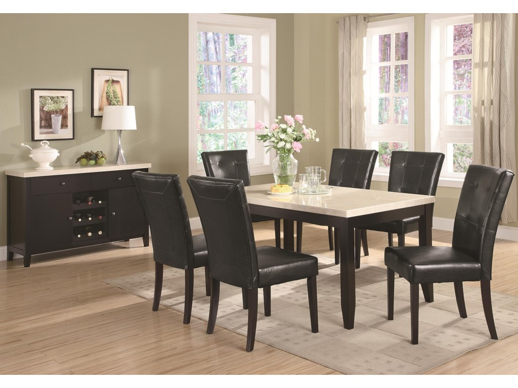 Shown with Coordinating Server with Wine Rack and Side Chairs