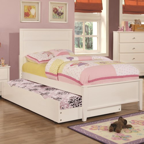 Coaster Ashton Collection Full Bed with Framing Details with Trundle