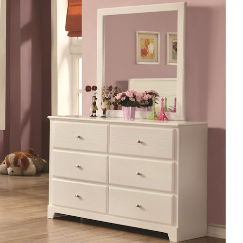 Coaster Ashton Collection Dresser and Mirror with 6 Drawers