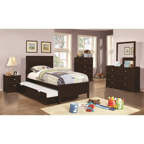 Coaster Ashton Collection Twin Trundle Bedroom Group