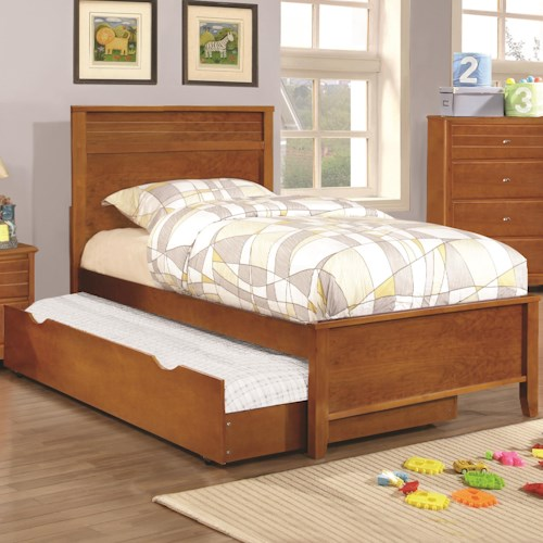Coaster Ashton Collection Twin Bed with Framing Details with Trundle